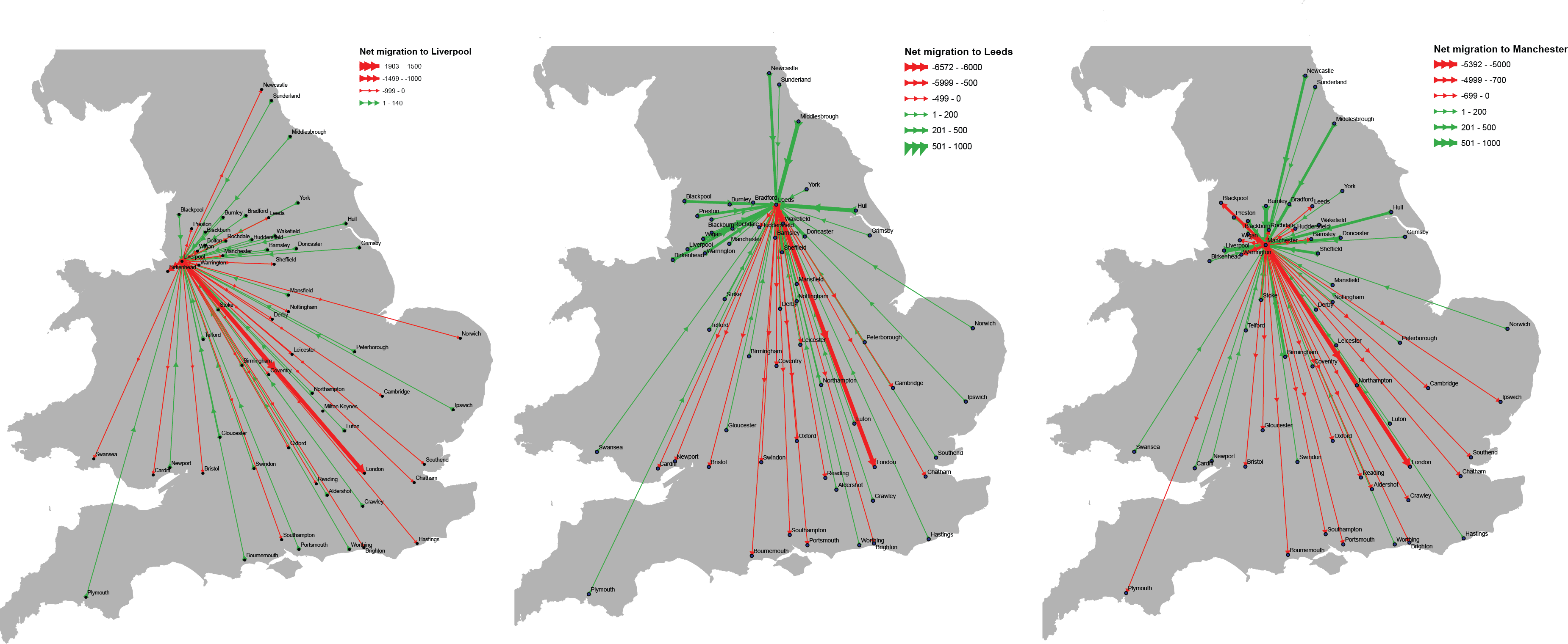 Migration and large cities where do people come from and where do