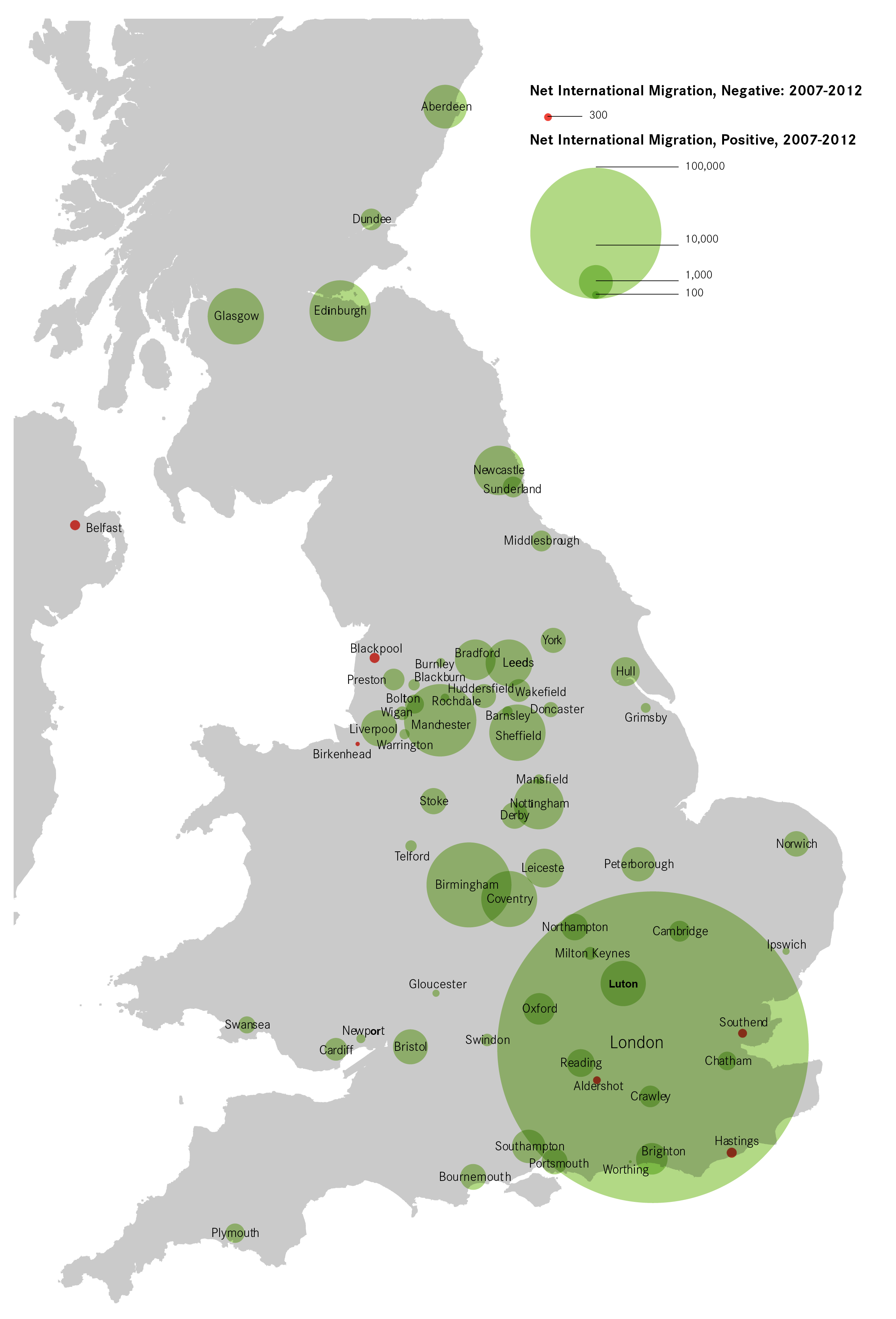 Map Of Uk And Cities.Eight Things Worth Noting On Migration Patterns In Uk Cities