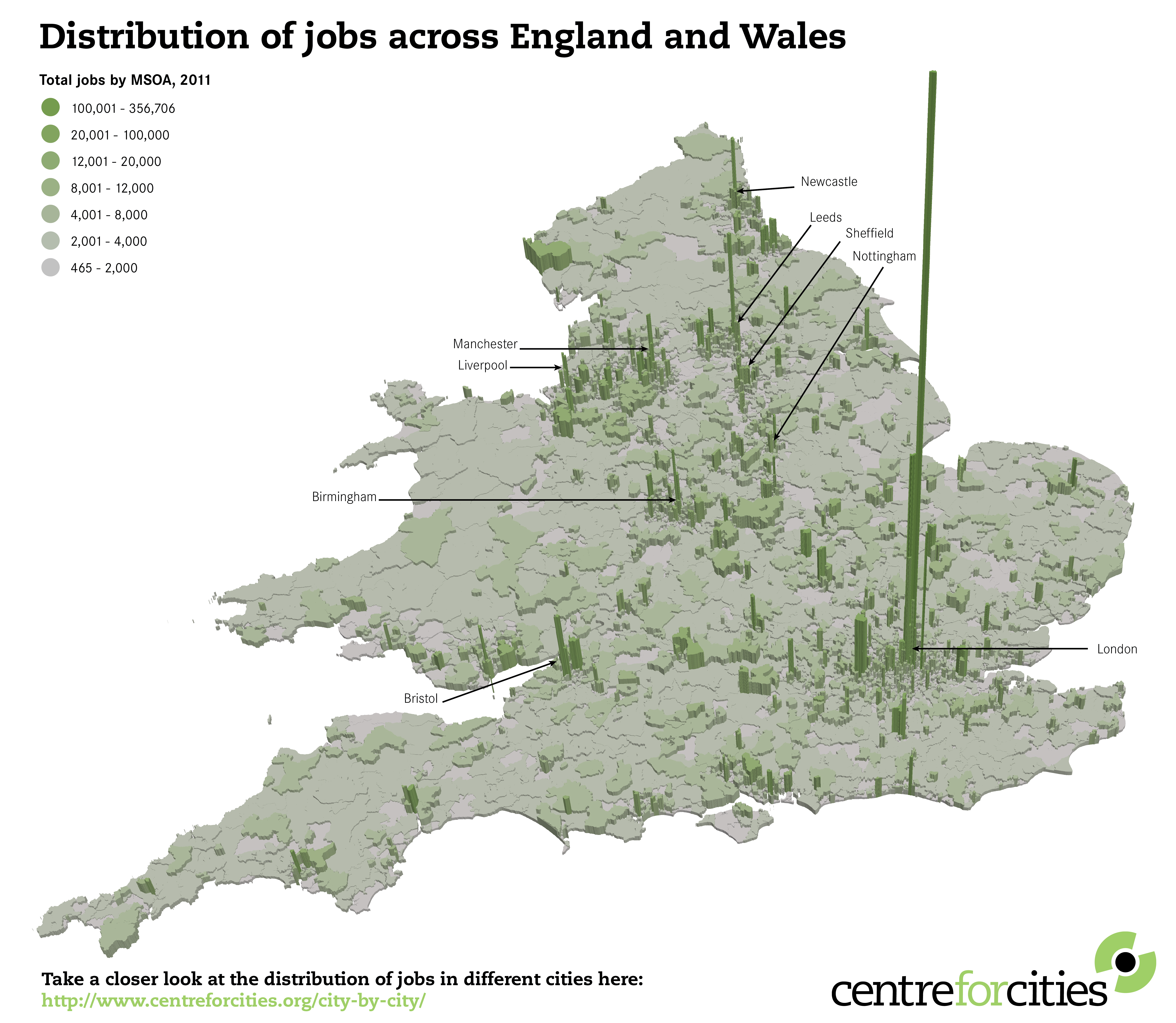 What The Geography Of Jobs In England And Wales Tells Us About The - Map os us and england