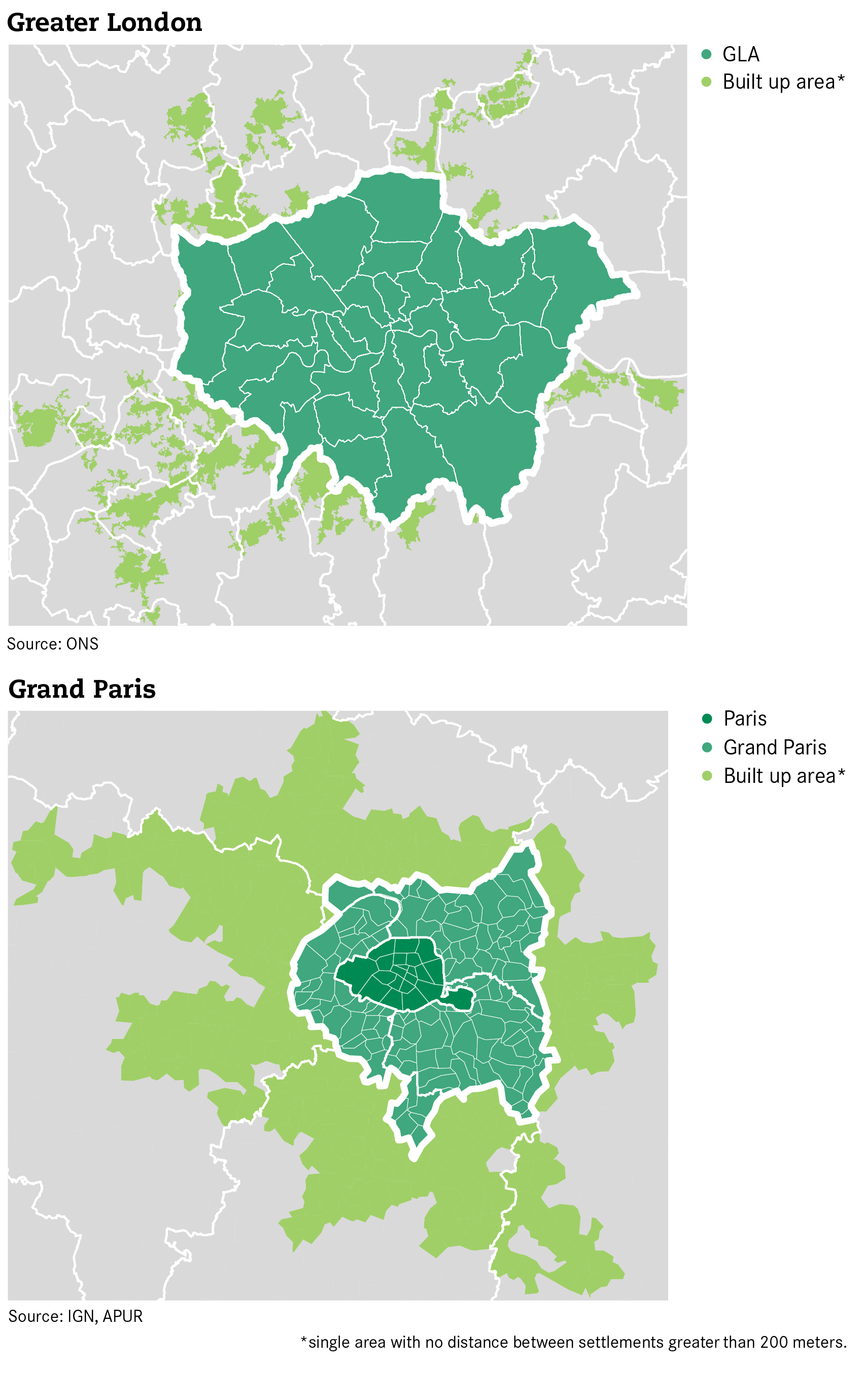 London And Greater London Map.The New Parisian Equivalent Of The Gla Will Be A Much Weaker