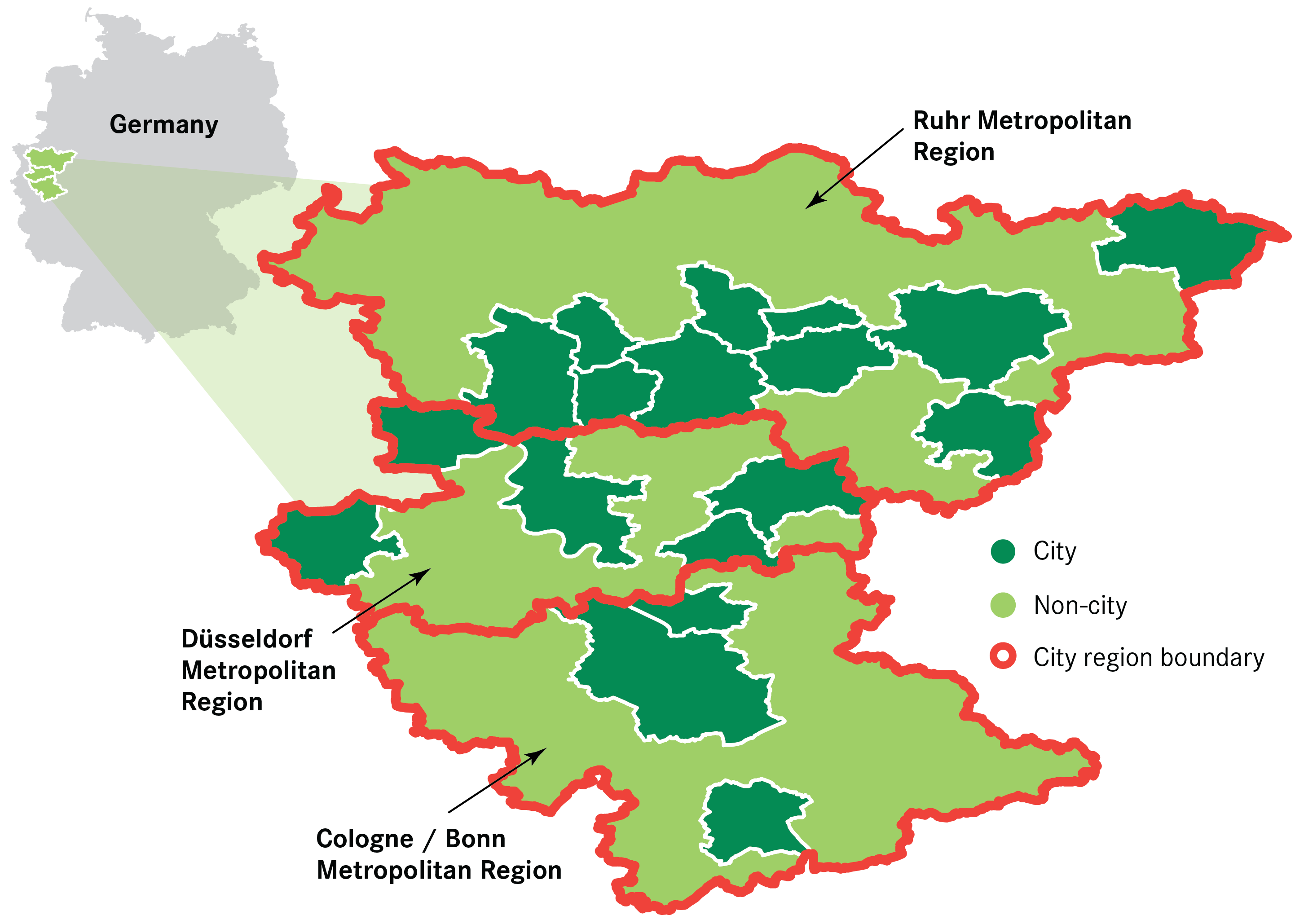 Introduction Building The Northern Powerhouse Lessons From The - Rhine valley germany map
