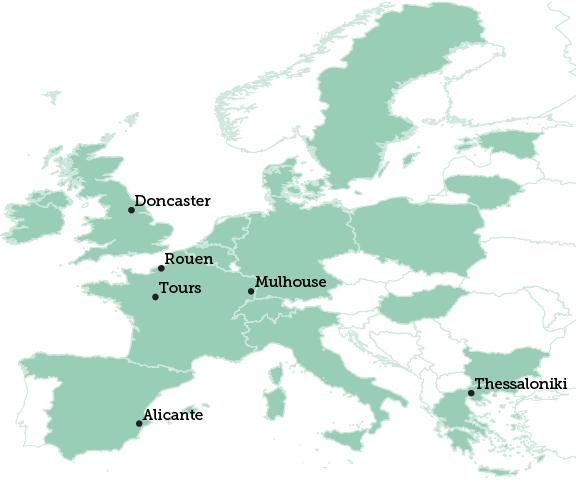 Doncaster map
