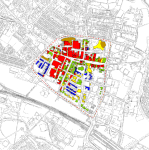 Land use in Ashford town-centre