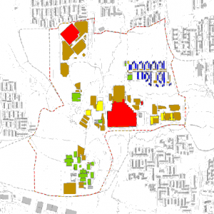 Land use in Skelmersdale town-centre