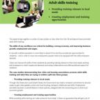 Adult skills training tile