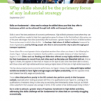 Why skills should be the primary focus of any industrial strategy