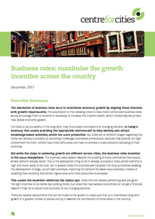 Business rates report