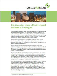 Six ideas for more effective Local Industrial Strategies | Centre